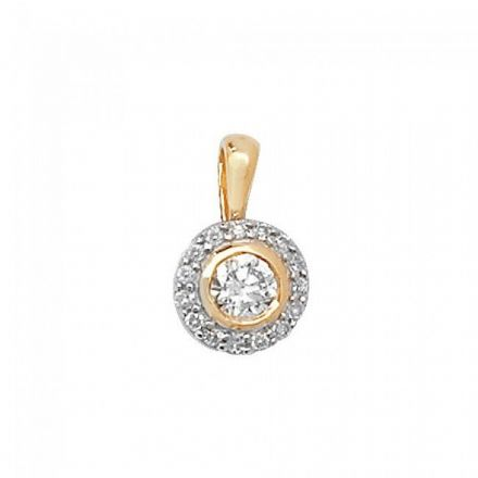 Diamond Pendant Set Around, PD129